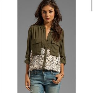 NWT- free people welcome to the jungle button down